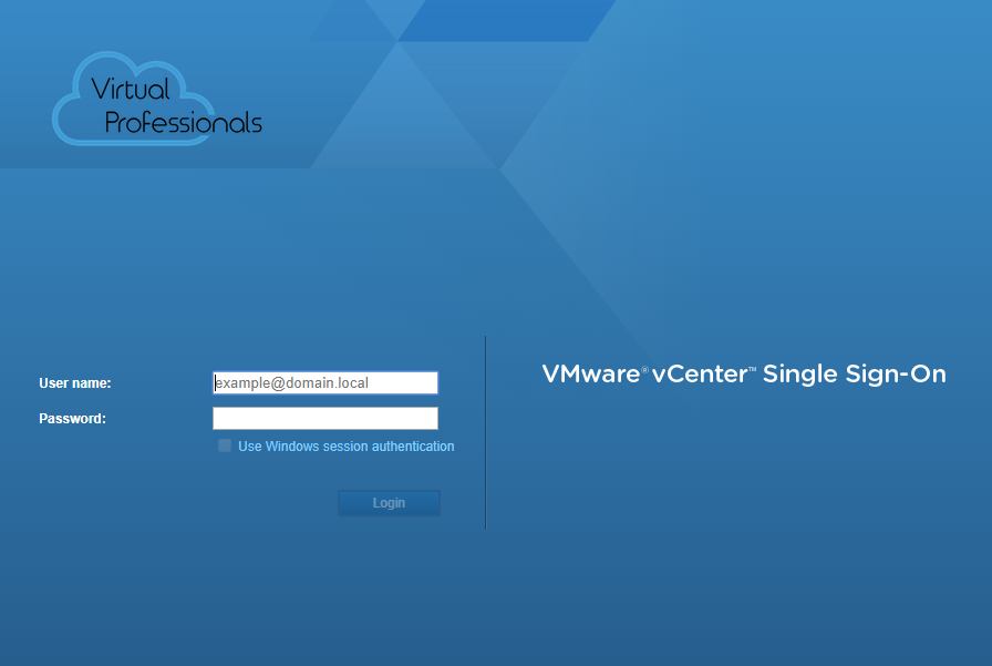How to customize the vSphere Web Client login screen (HTML5 and Flash/Flex Client)