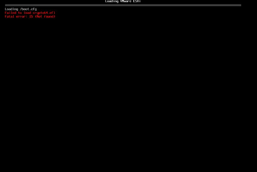 ESX 7.0.2 Update Bug – Failed to load Crypto64.efi